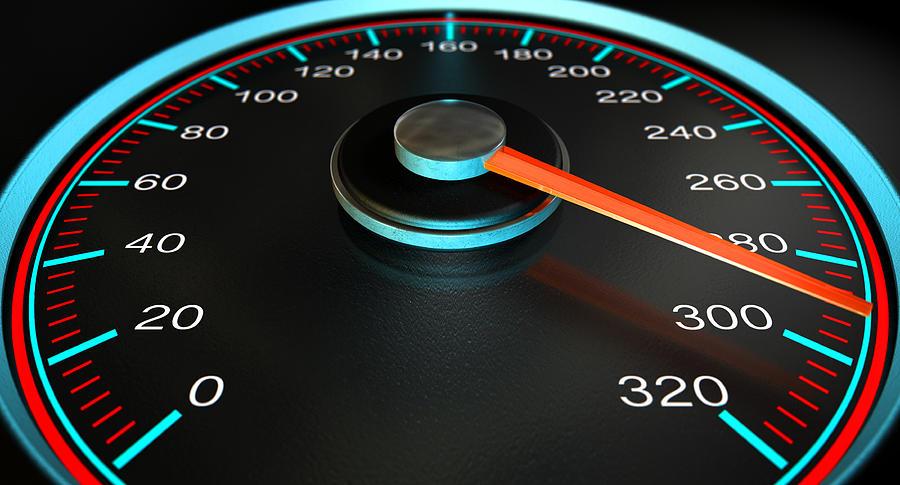Speedometer Fast Speed Digital Art by Allan Swart