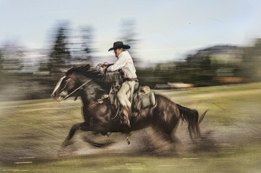 Cowboys Photograph - Speedway by Pamela Steege