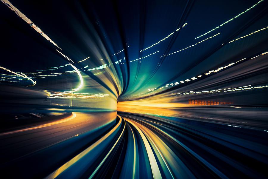Speedy Train, blurred motion Photograph by Nikada