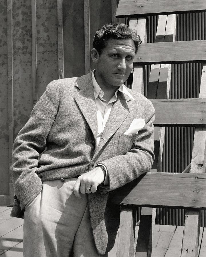 Spencer Tracy Wearing A Tweed Sports Jacket Photograph by Imogen Cunningham
