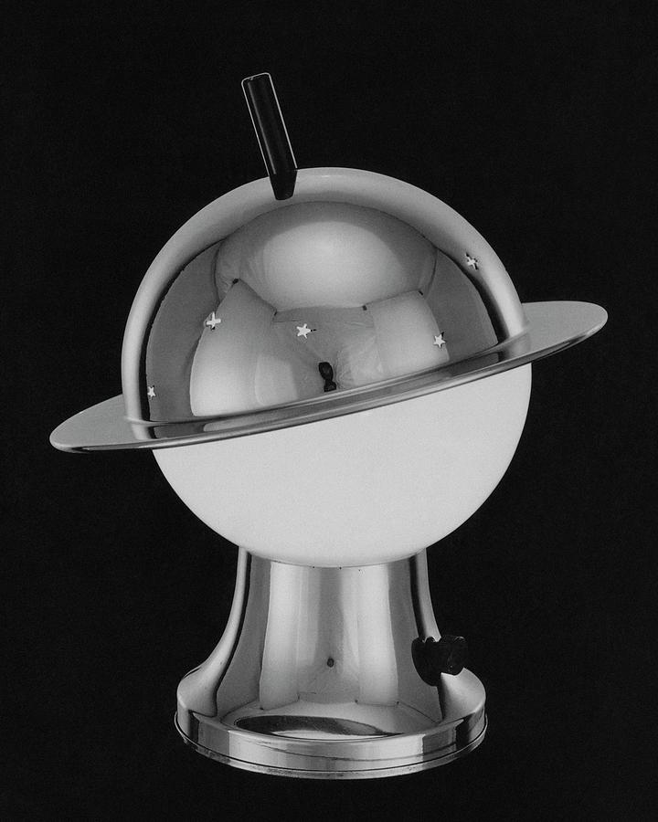 Spherical Lamp With Chromium Base Photograph by Martinus Andersen