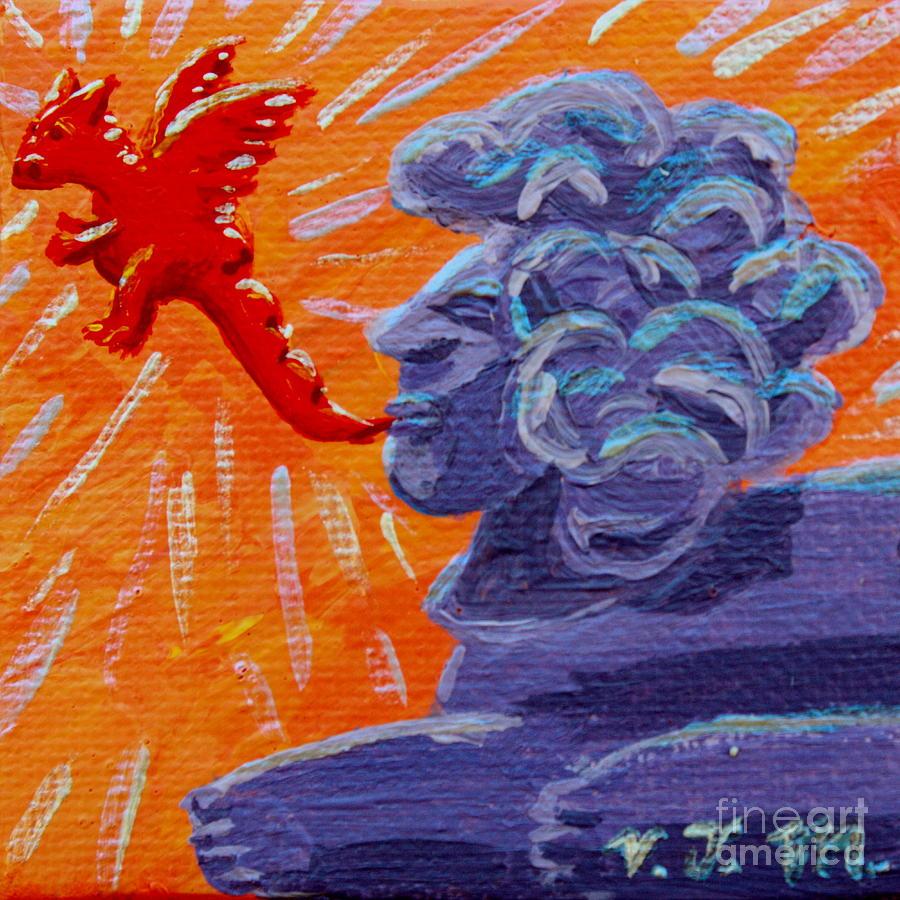 Sphinx Dude Source of Dragons by Vicki Maheu
