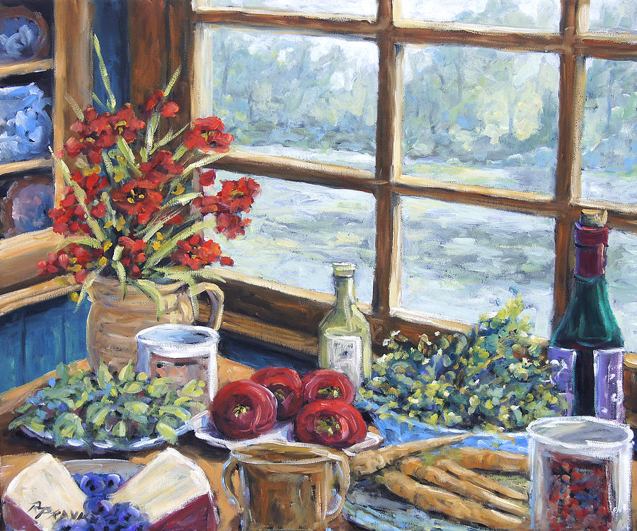 Still Life Painting - Spice Table By Prankearts by Richard T Pranke