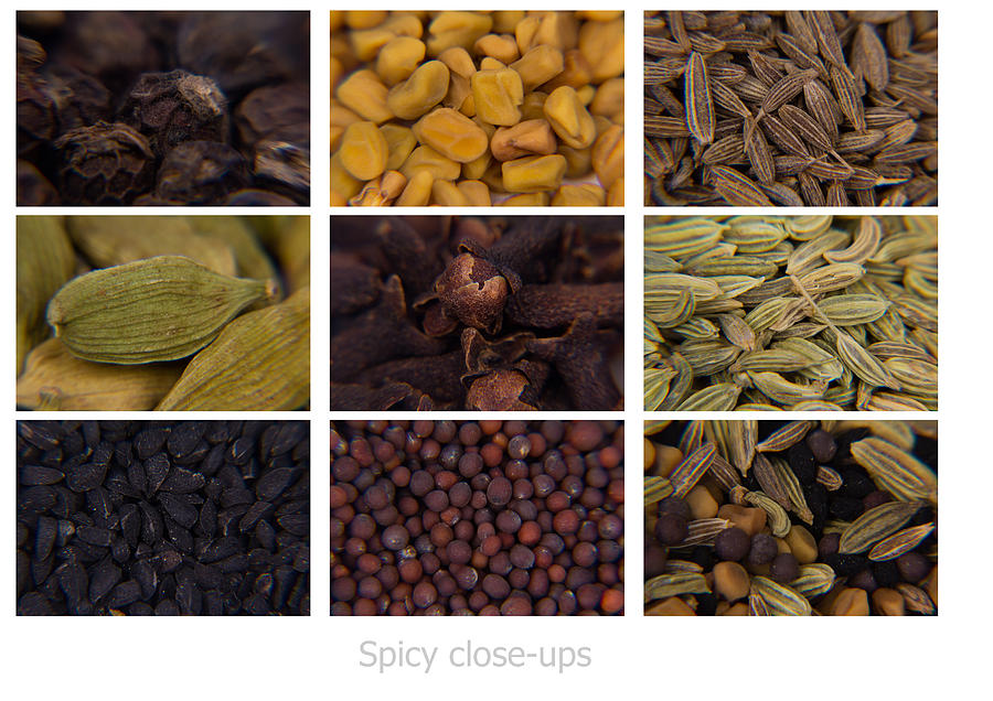 Collage Photograph - Spicy close-ups by SAURAVphoto Online Store