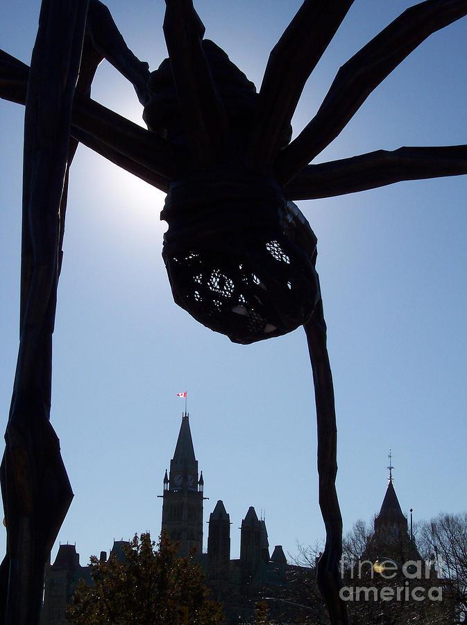 Jammer Photograph - Spider Attacks Parliament by First Star Art