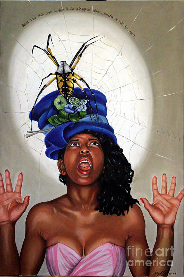 Spider  Painting - Spider Hat by Shelley Laffal