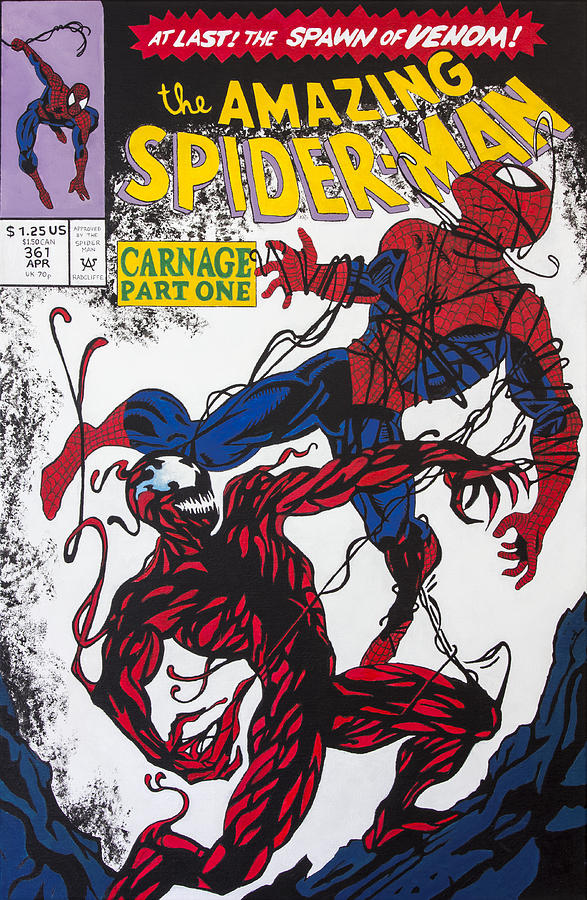 Spider Man Vs Carnage Painting By Travis Radcliffe