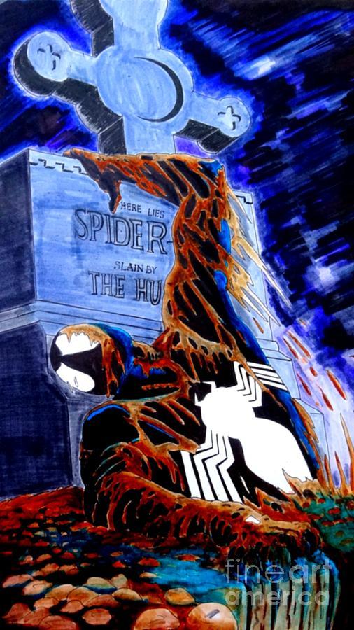 Spider Resurrection Pop Art Drawing