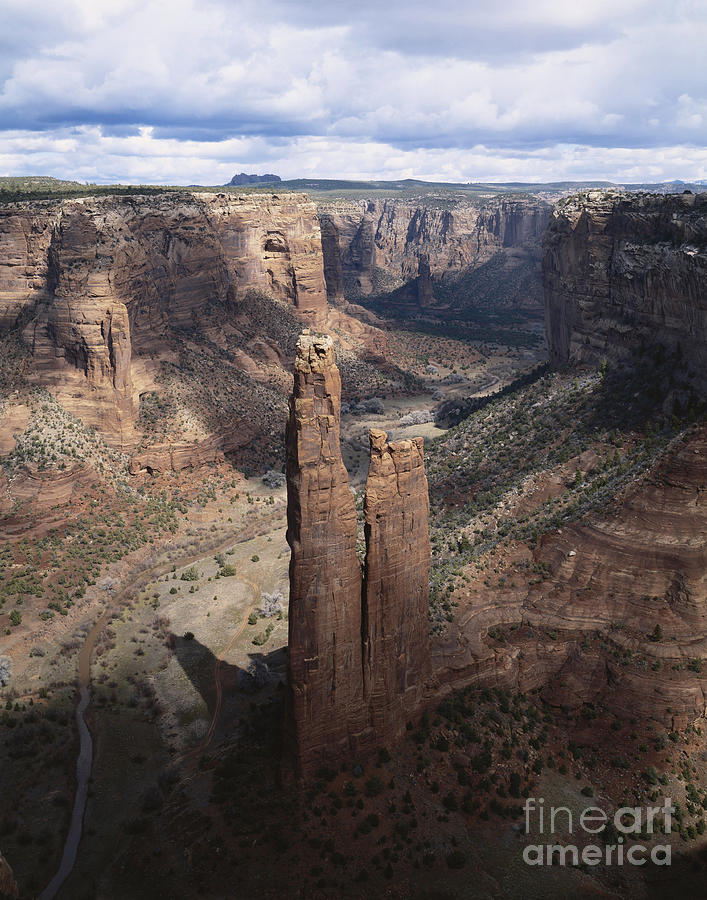 Spider Rock Photograph - Spider Rock, Canyon De Chelly by George Ranalli