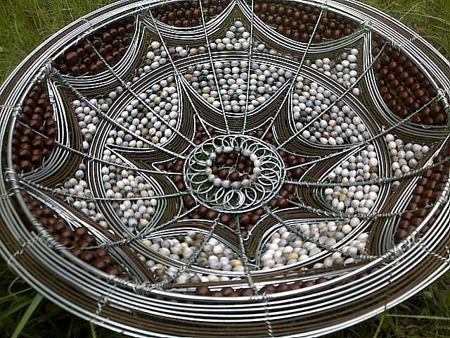 Spider Web Design Bowl Ceramic Art by Nick  Jaji