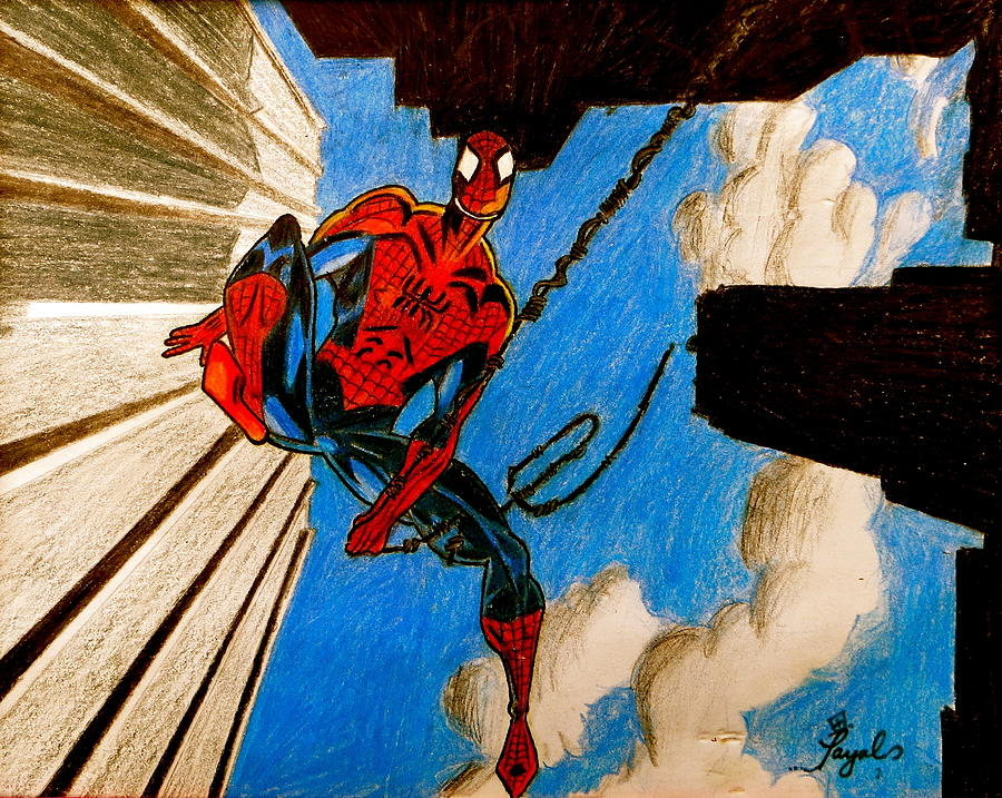 Spiderman Drawing - Spiderman by Artistic Indian Nurse
