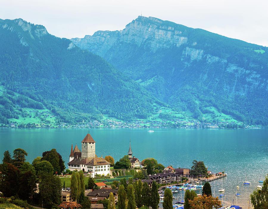 Spiez With Lake Thun Switzerland Photograph by Nicolasmccomber