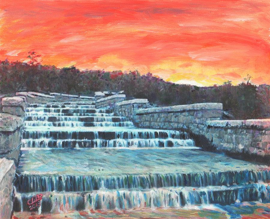 Reservoir Painting - Spillway by Cliff Wilson