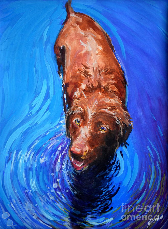 Labrador Retriever Painting - Spin Cycle by Molly Poole