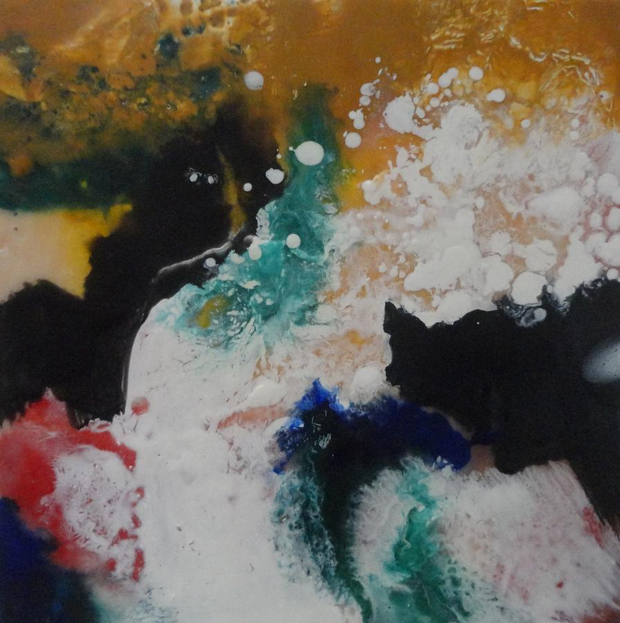 Encaustic Painting - Spindrift by Elaine Elliott