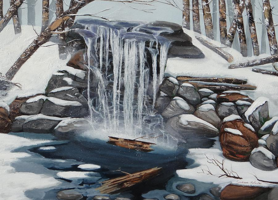Oil Paintings Painting - Sping Summer Fall Winter by Susan Roberts