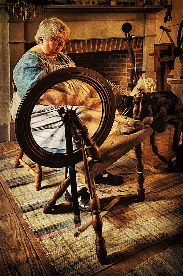 Spinnin Spinster Photograph by Priscilla Burgers