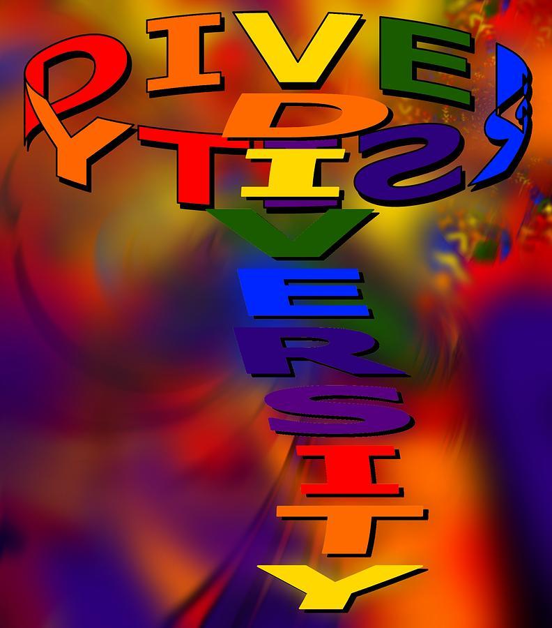 Diversity Digital Art - Spinning Diversity by Pharris Art