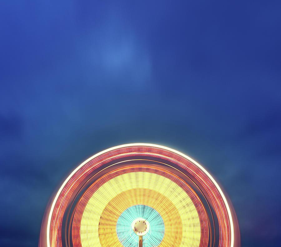 Spinning Ferris Wheel Photograph by Shaunl