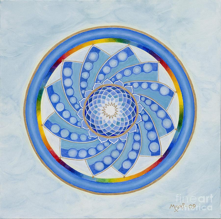 Mandala Painting - Spinning Flower by Mayki Wiberg