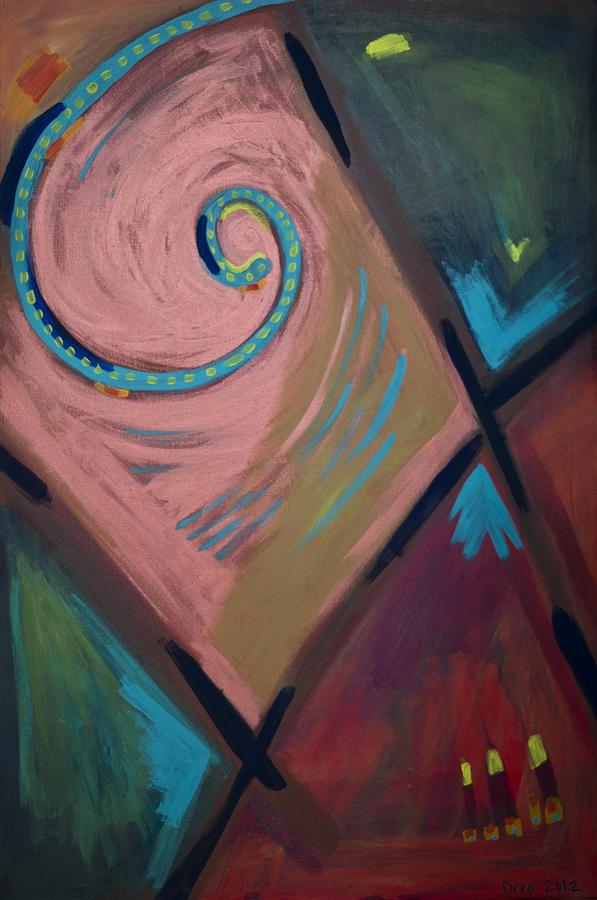 Spirit Painting - Spiral 2012 by Drea Jensen