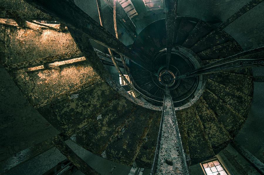Old Photograph - Spiral by Akos Kozari