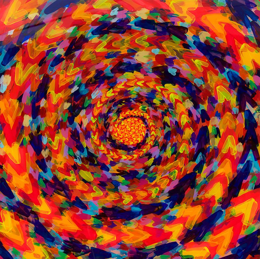 Acrylic Painting - Spiral Color 14-49 by Patrick OLeary