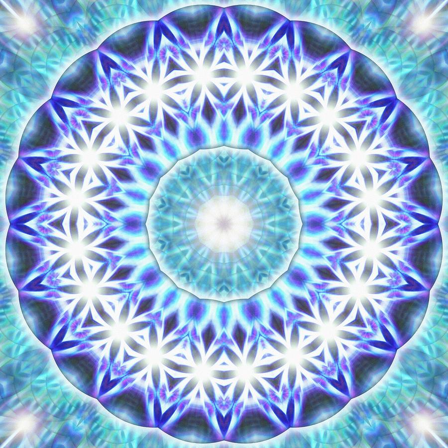 Sacredlife Mandalas Drawing - Spiral Compassion K1 by Derek Gedney