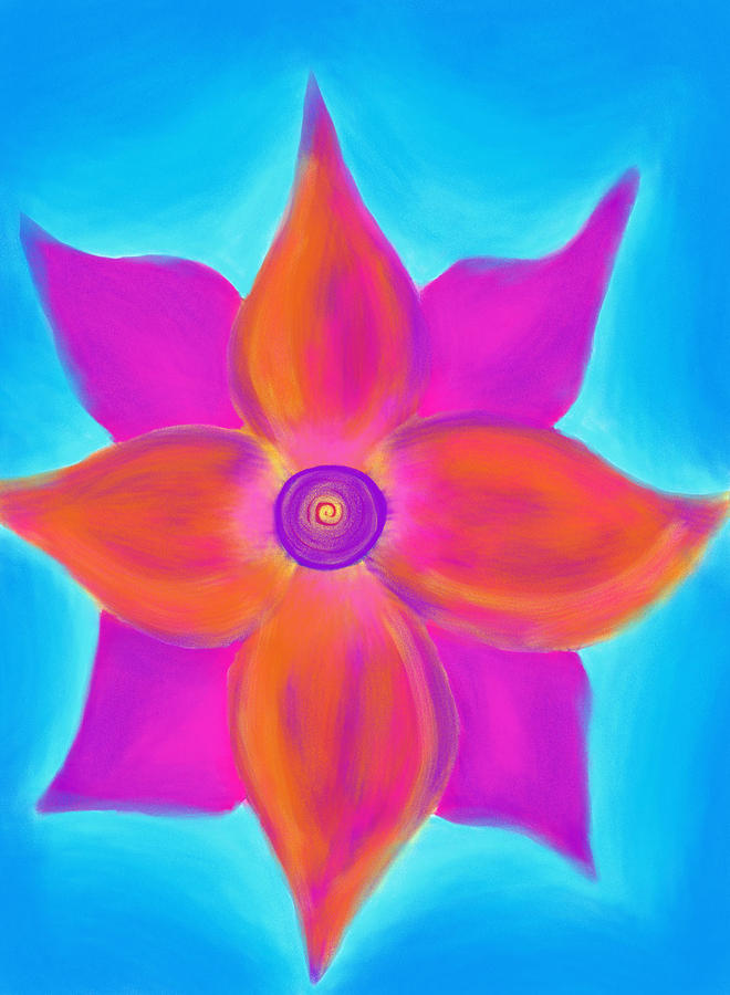 Spiral Painting - Spiral Flower by Daina White