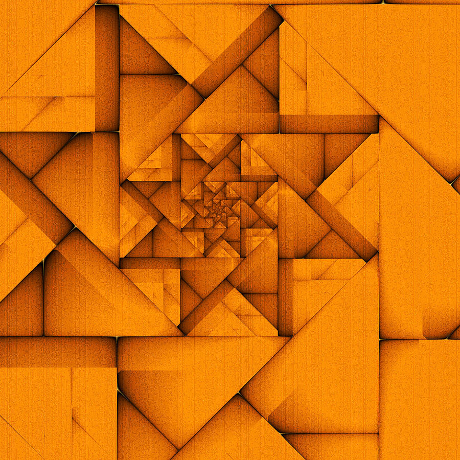 Fractal Digital Art - Spiral Form by Richard Ortolano