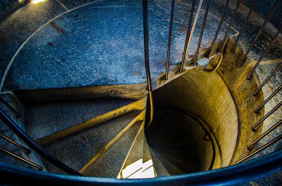 Spiral Staircase Photograph - Spiral Into The Light by Jeff Ortakales