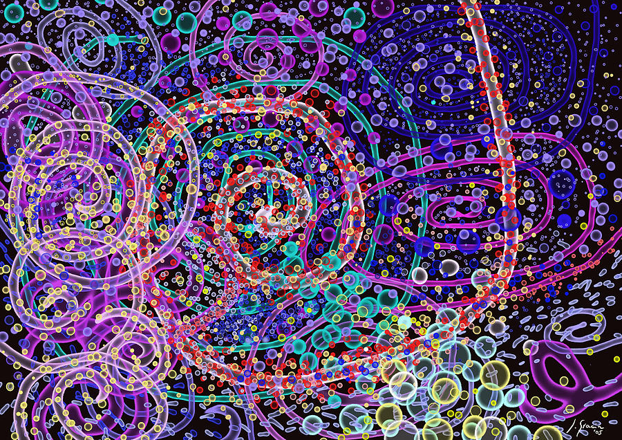 Spiral Movement Abstract Art Bubbles Space Colorful Art