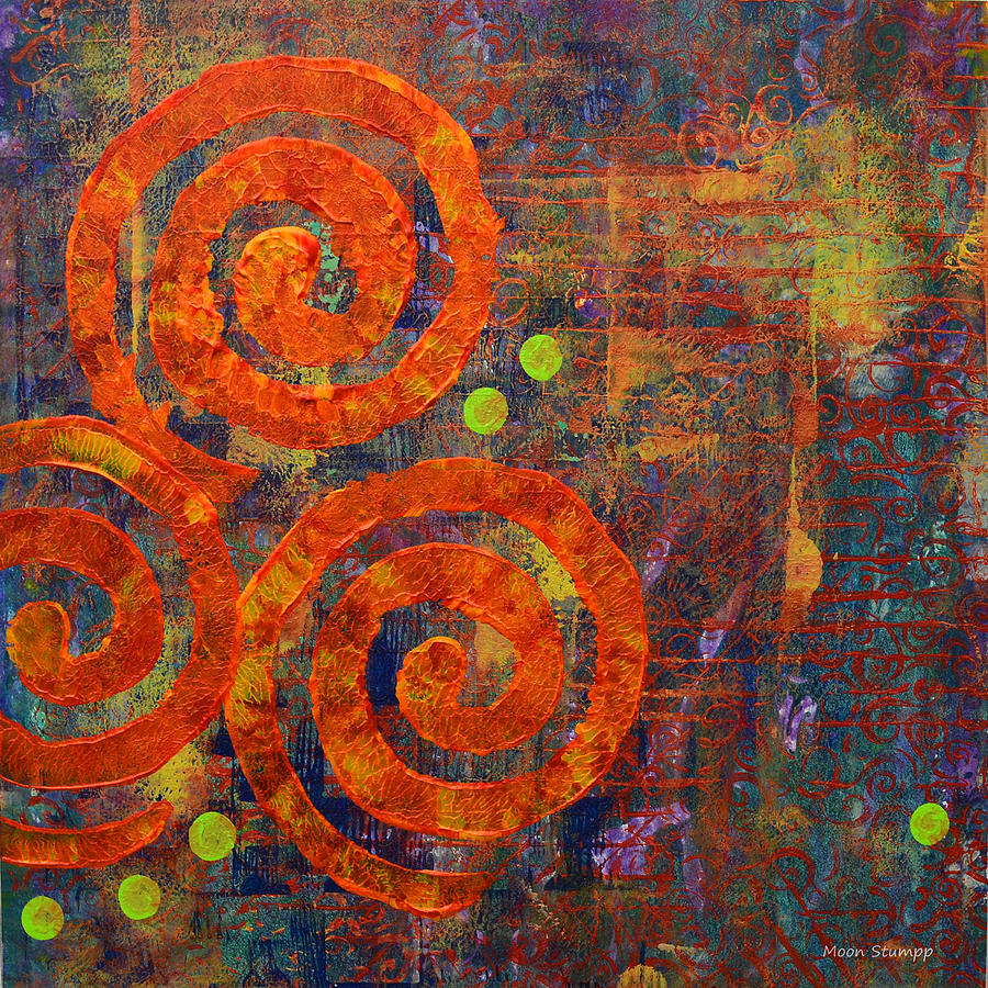 Spiral Painting - Spiral Series - Railing by Moon Stumpp