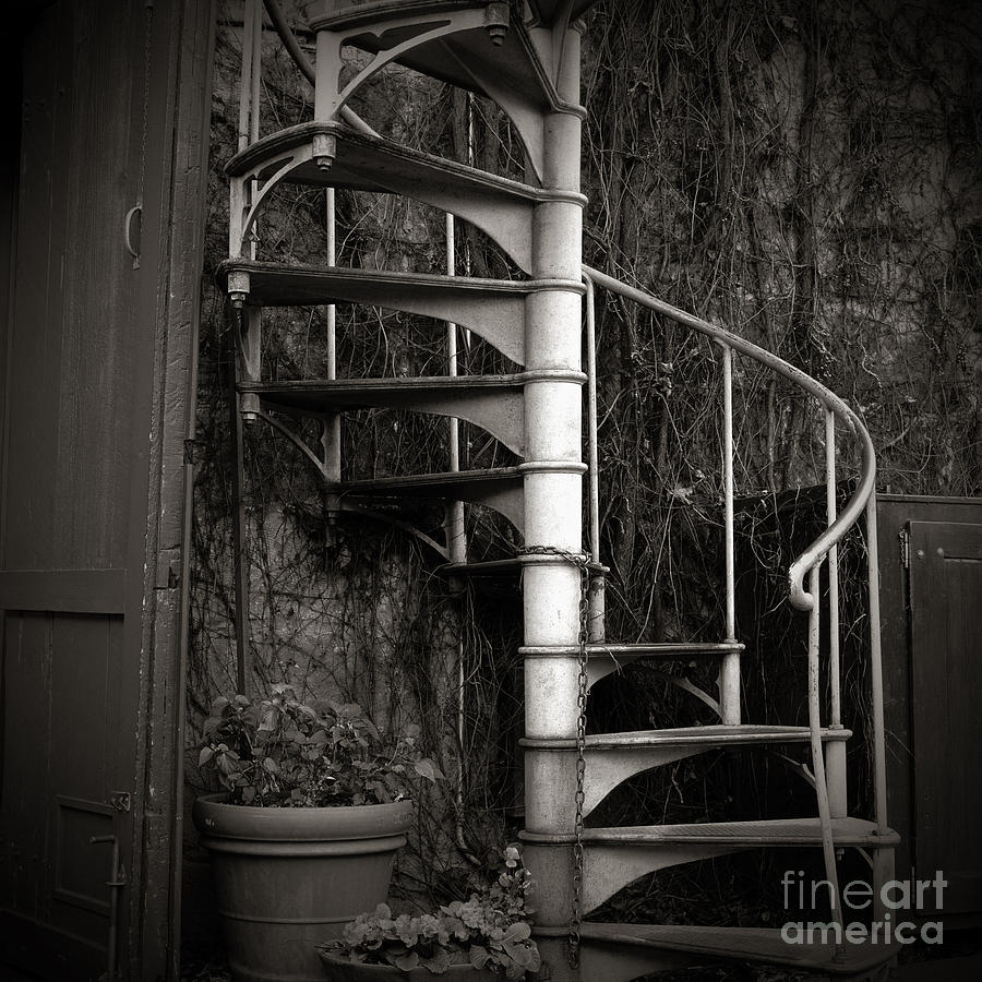 Stair Photograph - Spiral Staircase by Charmian Vistaunet