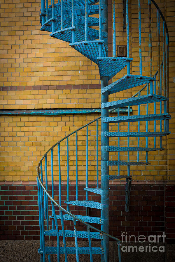 Europe Photograph - Spiral Staircase by Inge Johnsson