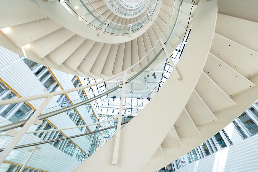 Spiral Staircase Inside Office Complex Photograph by Blurra