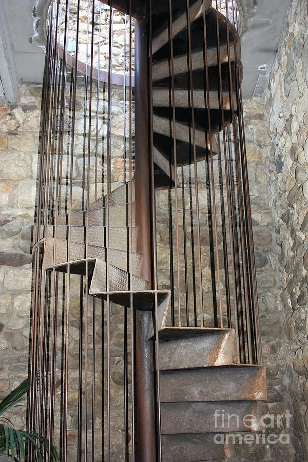 Stairs Photograph - Spiral Staircase by Sophie Vigneault
