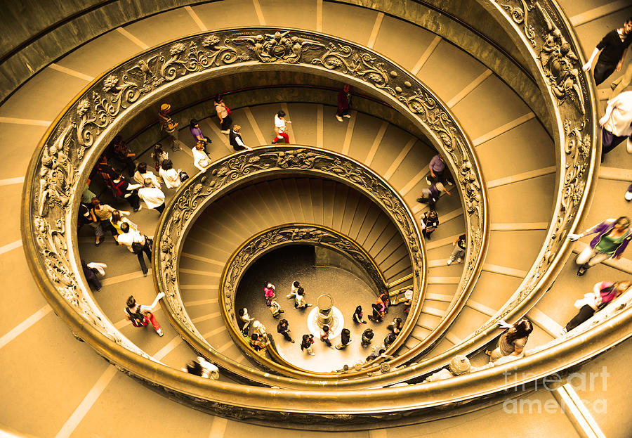 Vatican Museum Photograph - Spiral Staircase by Stefano Senise