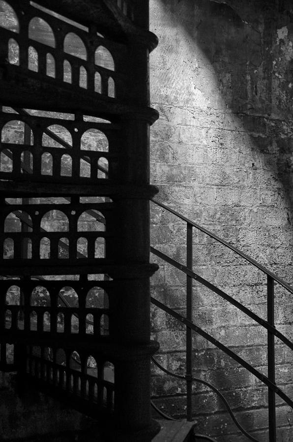Stairs Photograph - Spiral Stairs 1 - Mono by Steev Stamford