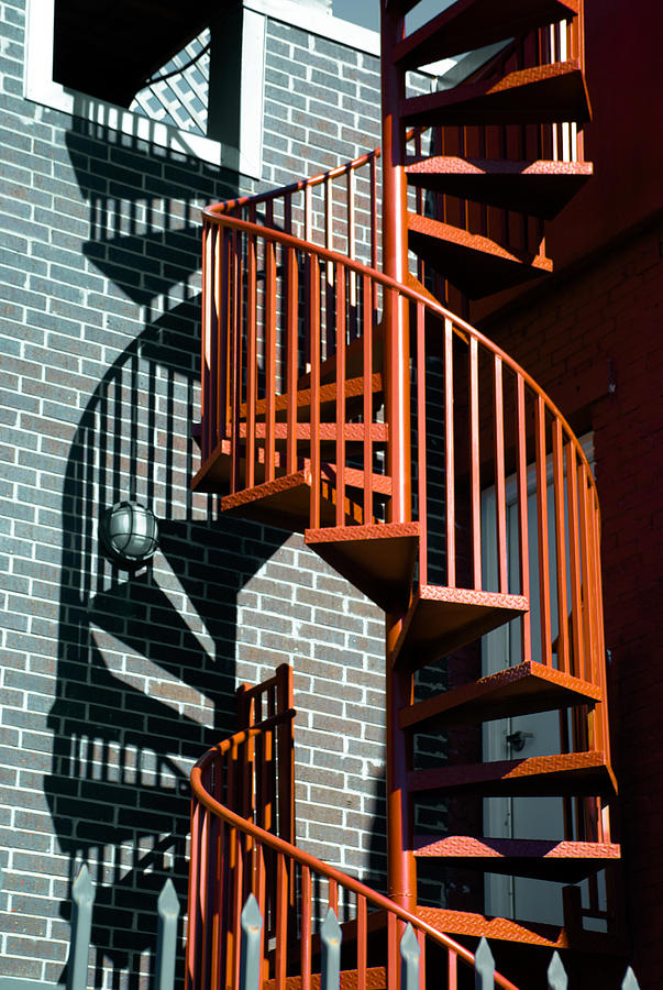 Abstract Photograph - Spiral Stairs - Color by Darryl Dalton