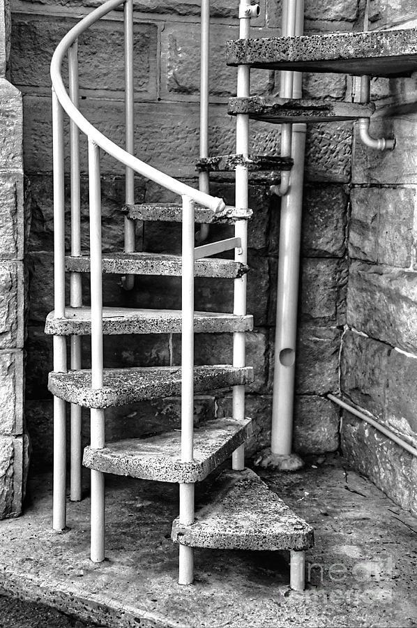 Spiral Steps Photograph - Spiral Steps - Old Sandstone Church by Kaye Menner