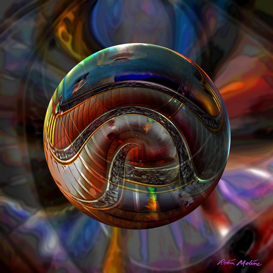 Art Globes Digital Art - Spiraling The Vatican Staircase by Robin Moline