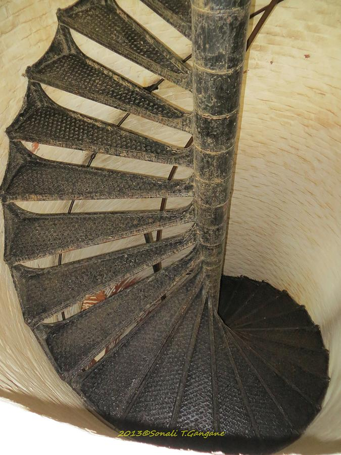 Cape Henry Lighthouse Photograph - Spiralling Upwards by Sonali Gangane