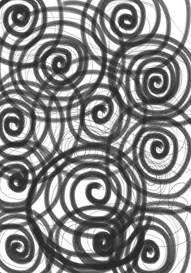 Spiral Painting - Spirals Of Love by Daina White