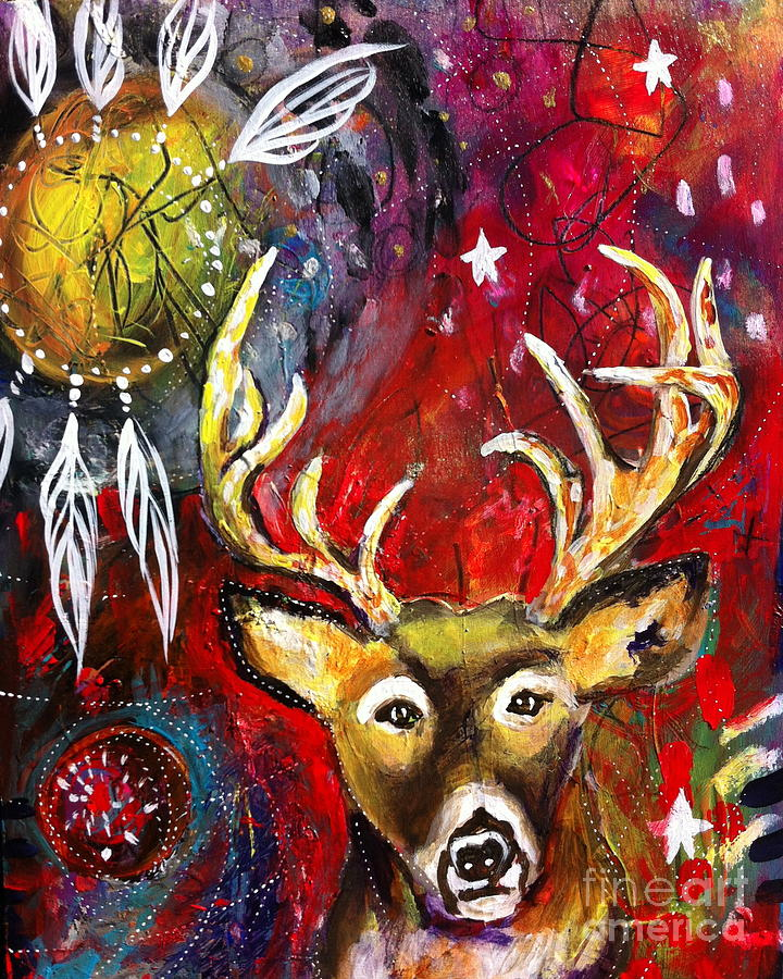 Spirit Deer and the Dreamcatcher by Kim Heil