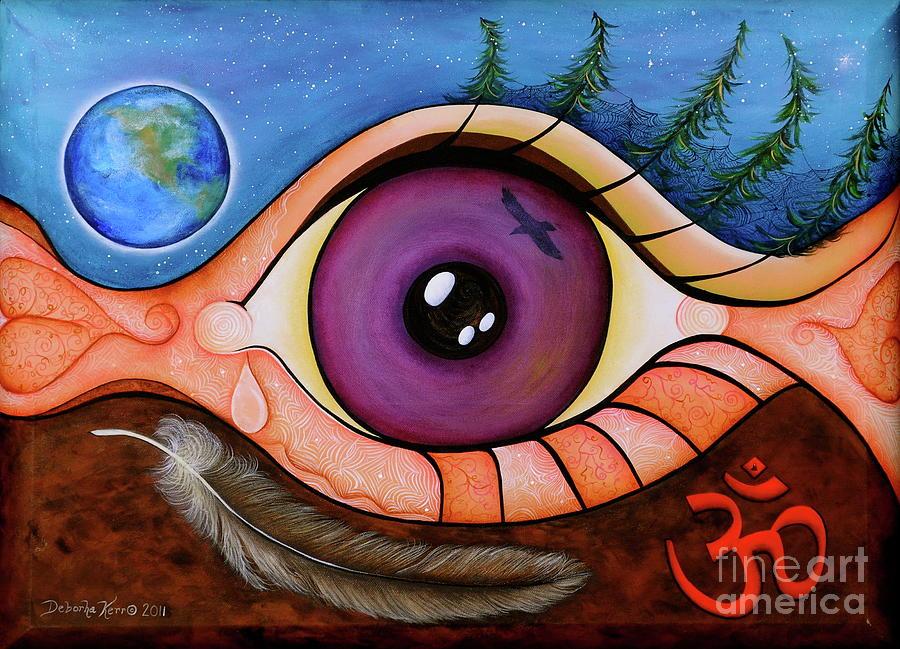 Contemporary Symbolism Painting - Spirit Eye by Deborha Kerr