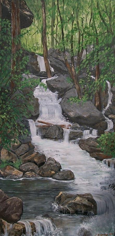 Waterfalls Painting - Spirit Falls by Sharon Duguay