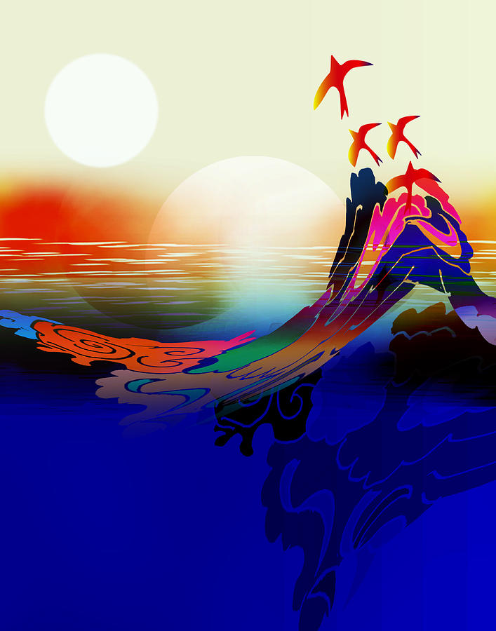 Spirit Digital Art - Spirit Flight by Bruce Manaka