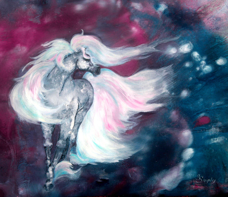 Horse Painting - Spirit Horse by Sherry Shipley