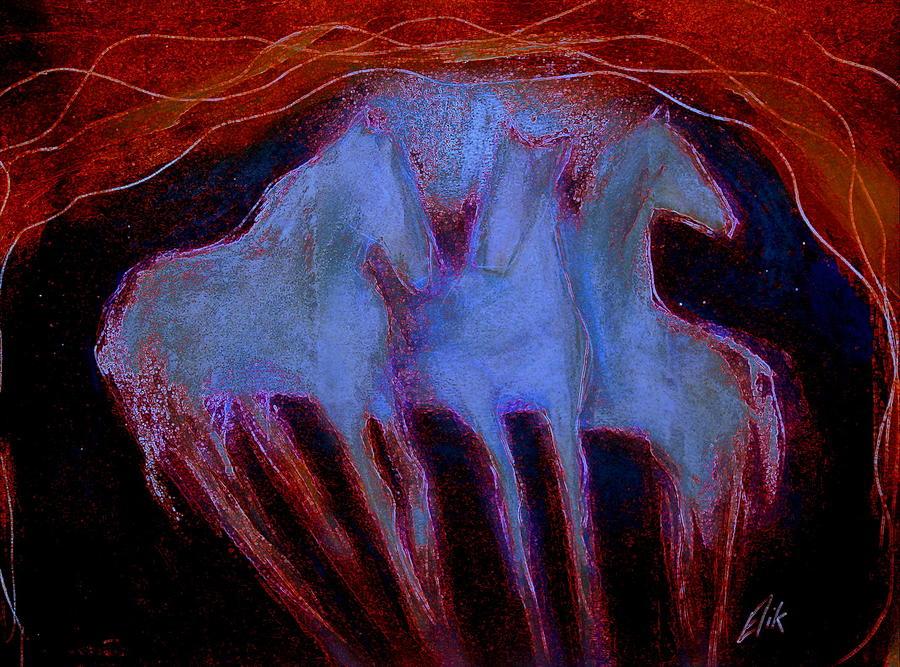 Spirit Horses Pastel - Spirit Horses by Johanna Elik
